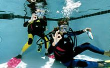 Kids learn scuba dive